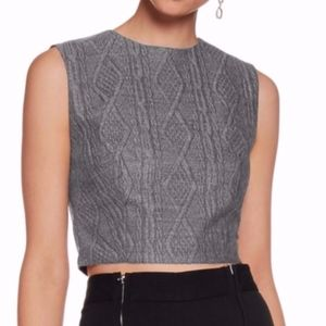NEW Alice + Olivia Kylnn Cable Knit Crop Top